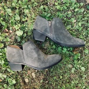 "Naturalizer | ""Zarie"" Elephant Gray Suede Booties"